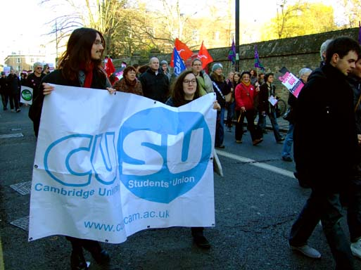 CUSU, representing the plight of students.