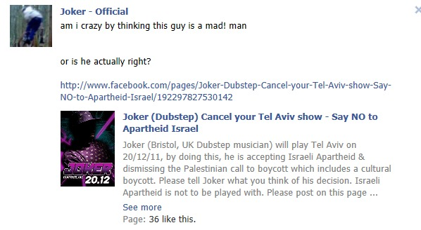 Joker asks fans what they think about the fb page started asking him to cancel