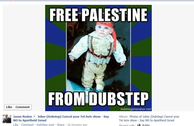 Israeli propogandists begin to post racist photos which they believe will help