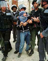 Palestinian children are often kidnapped and detained w/o charge by Israel