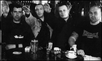here is a pic of the band a steroid bloated and jaundiced wilf the beast browning is third from left