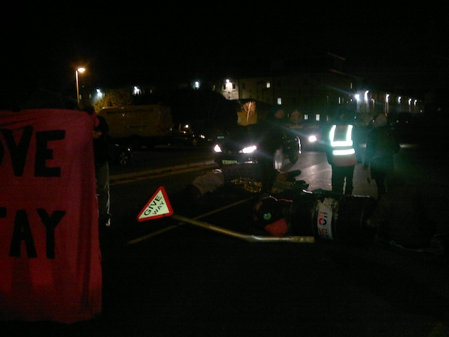 Harmondsworth blockade