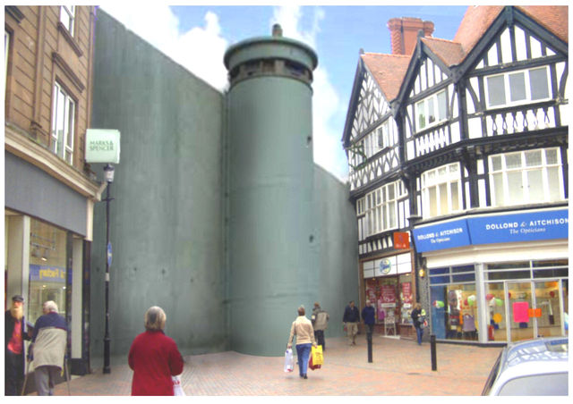 Suppose Wrexham was cut in half by a wall 8 metres high
