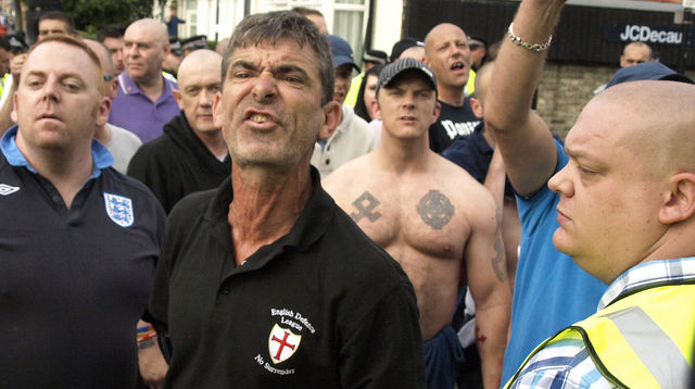 EDL in Walthamstow 1st Sept - Fascist tattoos
