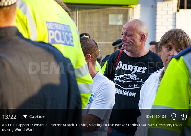 EDL in Walthamstow 1 Sept - Panzer T-shirt