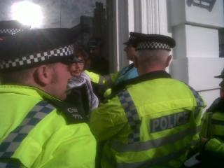 Police check out lock-on at Sodastream
