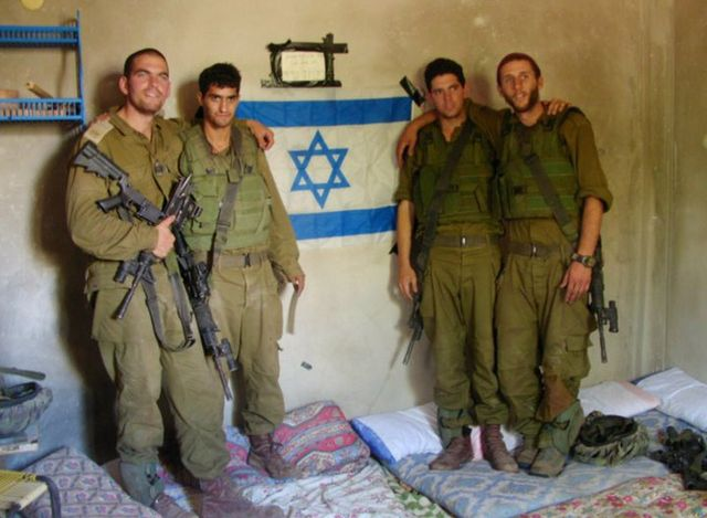 IDF soldiers carrying out ethnic cleansing in Gaza.