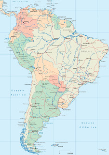 South American rivers map