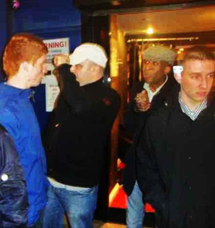 Matz (white cap) on an EDL outing in London
