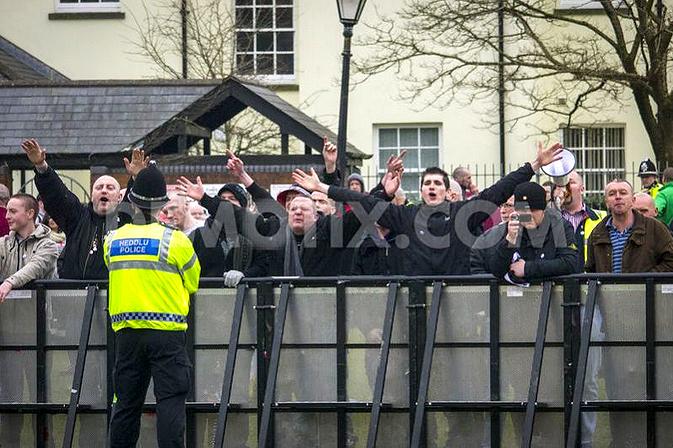 NF & KKK lynched black people in effigy in Swansea - UK Indymedia
