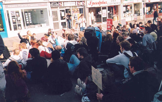 Hereford anarchists anti-war protest