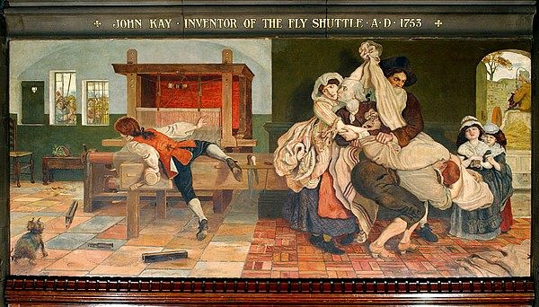 John Kay inventor of the Fly Shuttle, by Ford Madox Brown.