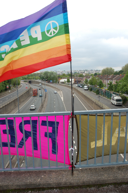 over the m32 in bristol earlier yesterday
