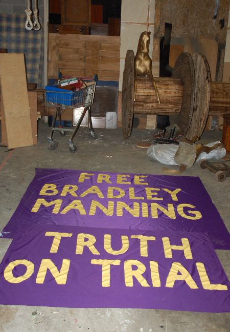 new banners painted and drying last night
