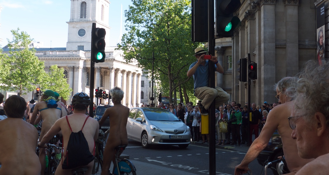 london world naked bike ride - words and pics