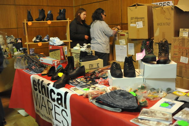 Footwear stall Ethical Wares at West Midlands Vegan Festival
