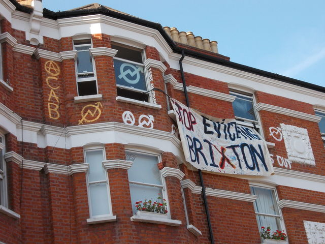 'Stop Evicting Brixton', ACAB, also 'I eat guardians'
