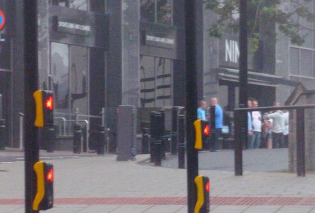 Newcastle EDL waiting for the bus at St. James Park