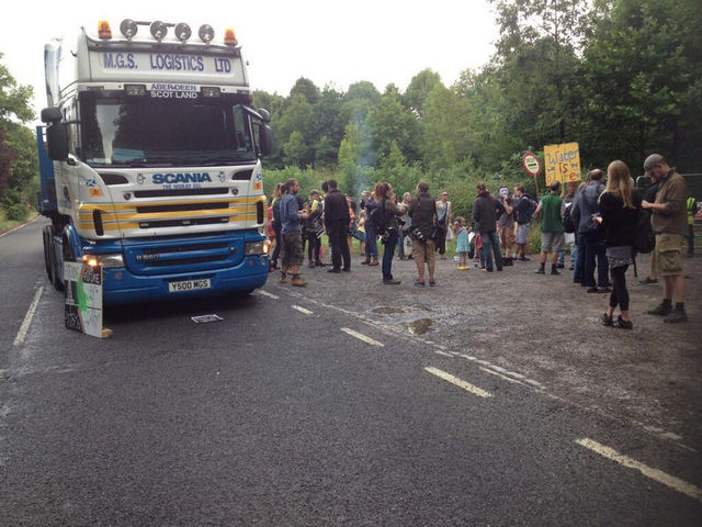 Entance Of Fracking Site Blocked