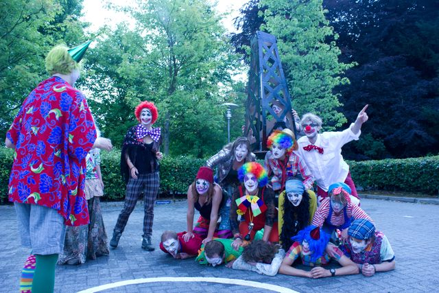 Clown Pyramids say NO to Fracking