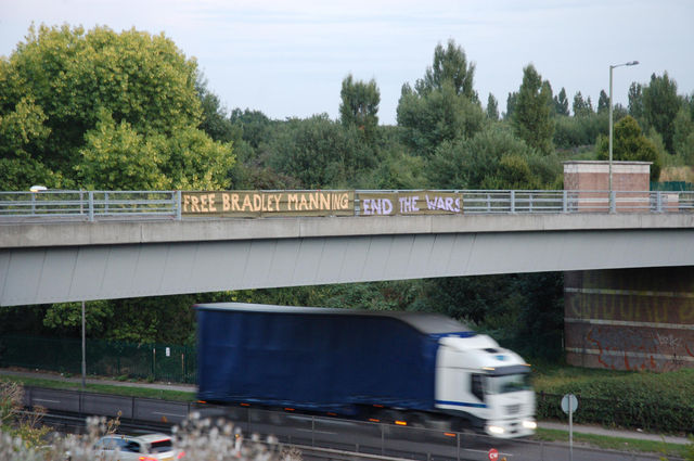 new big banner up on sentencing day