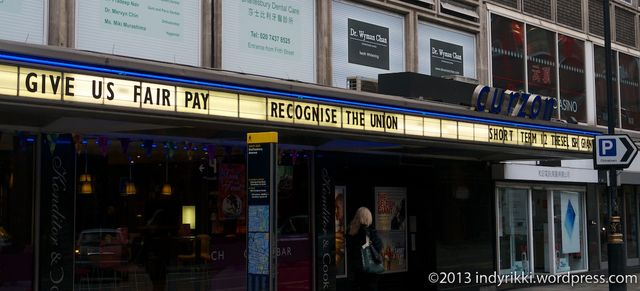 front of cinema this morning
