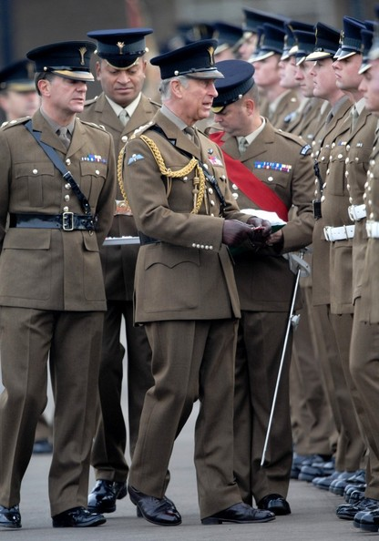 "Prince Charles presenting the ""Operational Service Medal"" for ... Afghanistan"