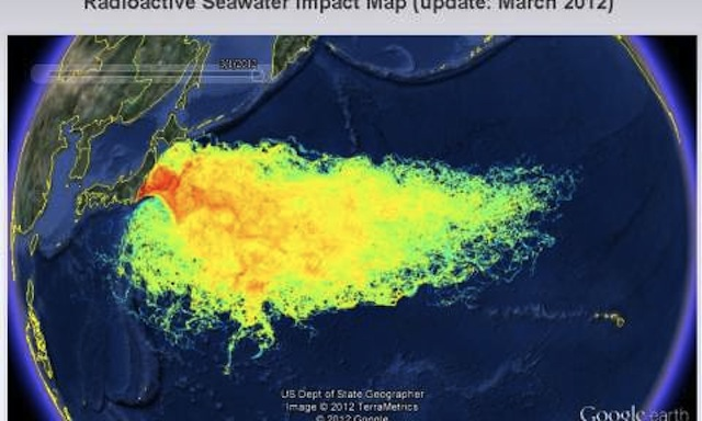 Map Of The Most Irradiated Seawaters