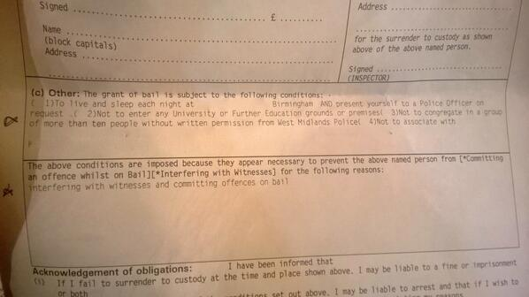 An example of bail conditions
