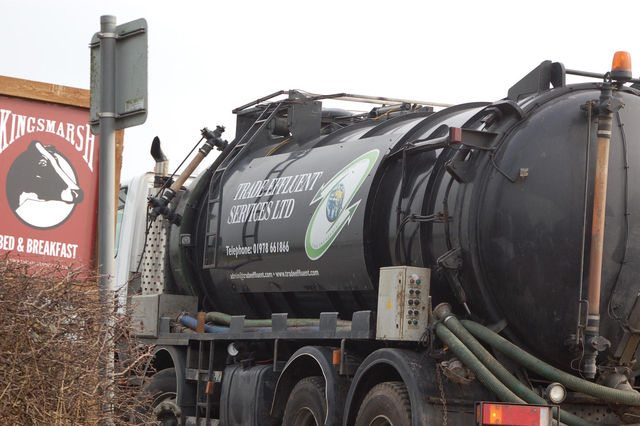 Trade Effluent Services truck joins main road