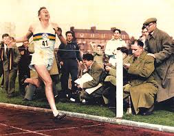 Roger Bannister British vegetarian 1st to run 4 minute mile