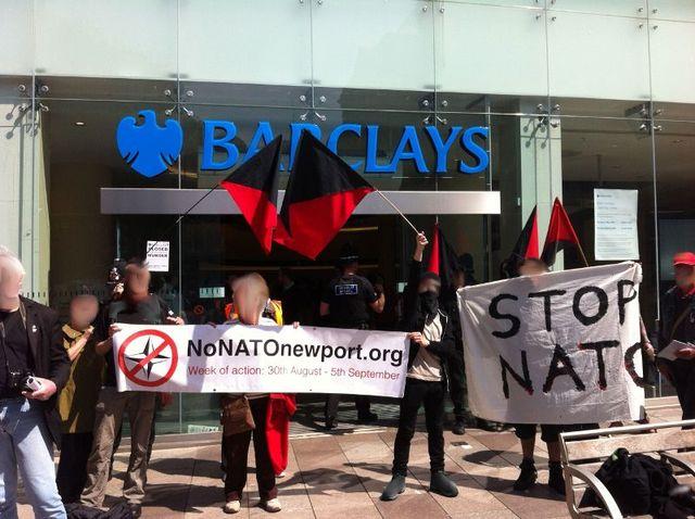 outside Barclays