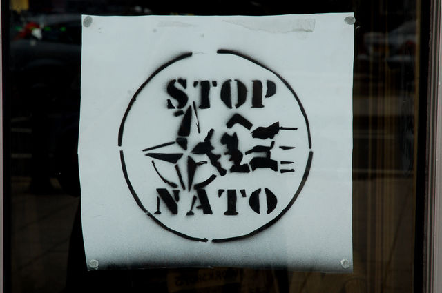 Stop Nato stencil from Tuesday's workshop