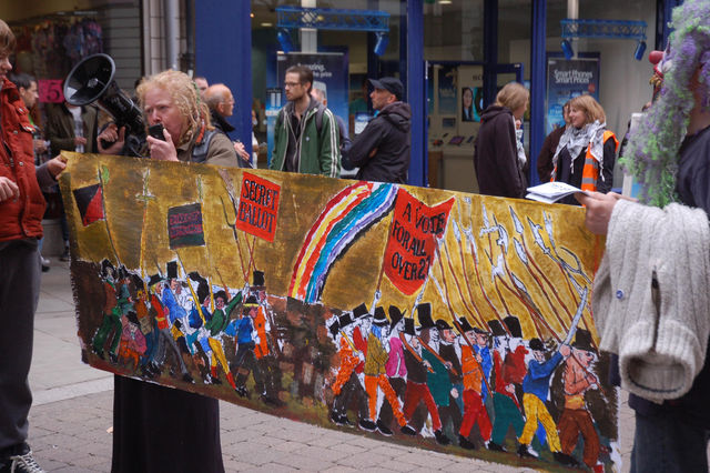 Chartist mural and a few home truths through the megaphone