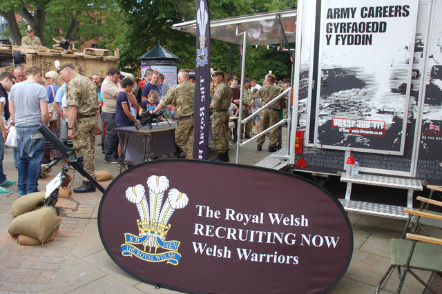 Royal Welsh - using guns to target kids