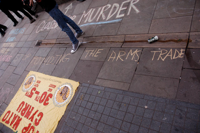 Stop funding the arms trade