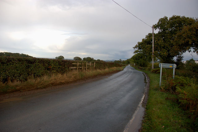 Looking from the site down Borras Road towards Holt
