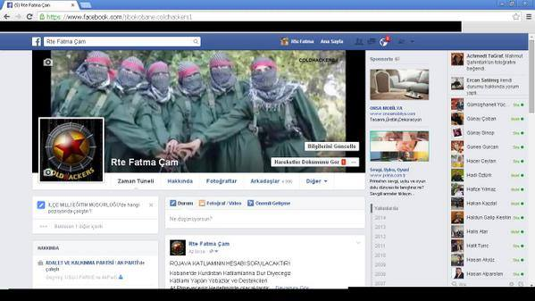 Screenshot of hijacked AKP FB page.