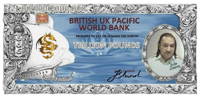 The new £1 Trillion note with the face of John Wanoa