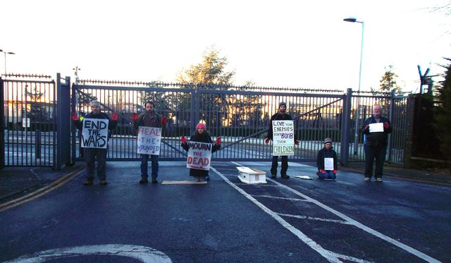 Catholic Workers blockade Northwood HQ