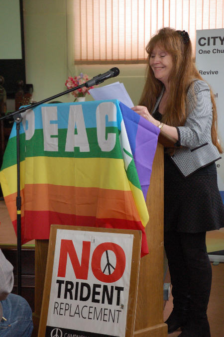 Sue Miller from Oswestry Coalition for Peace