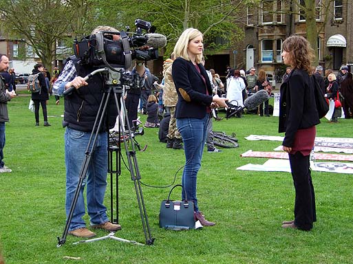 Anglia News recording a report.