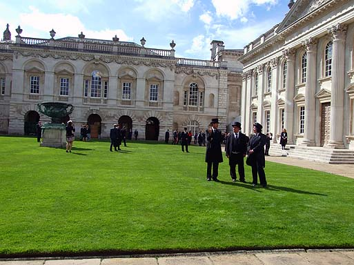 A post grad ceremony was also taking place on Senate House lawn!