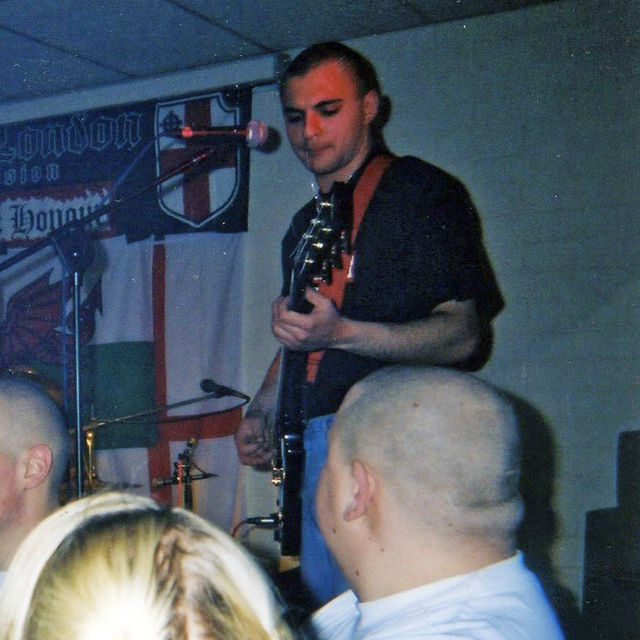 Christopher Knight at B&H gig in Belgium 2004