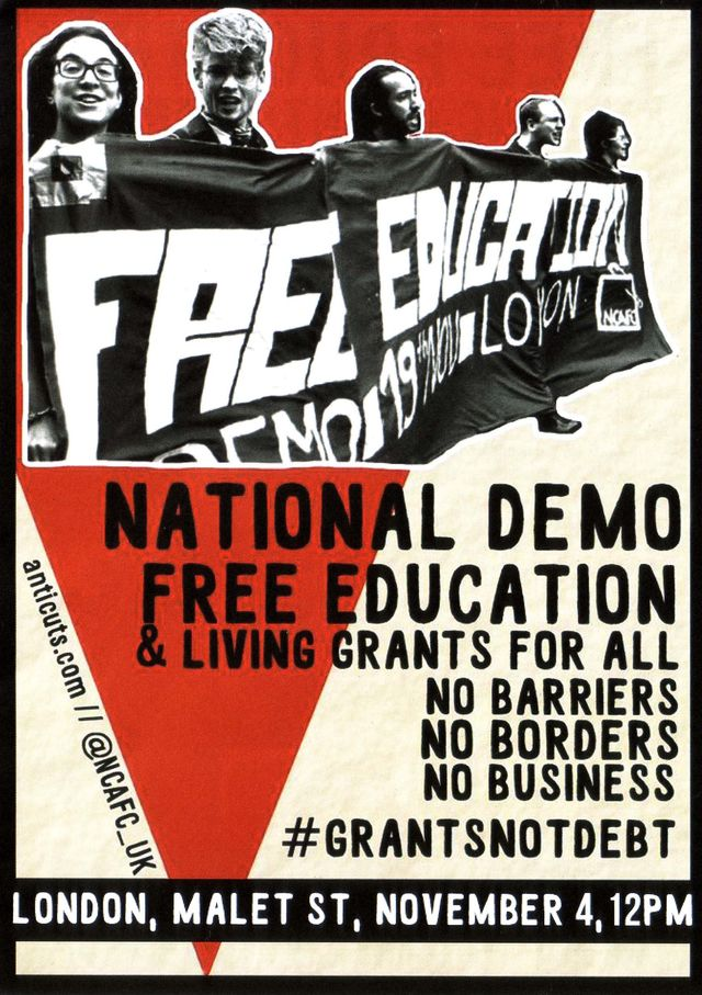 Free Education Flyer (front page).