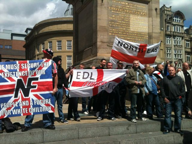 North East EDL Stand with NEI and the NF