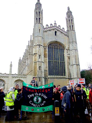 The start, a static rally in front of Kings College.