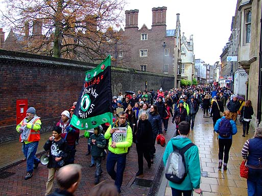 The march, heading towards Round Church Street.