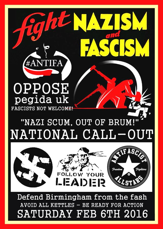 NAZI SCUM OUT OF BRUM - POSTER TO SHARE!
