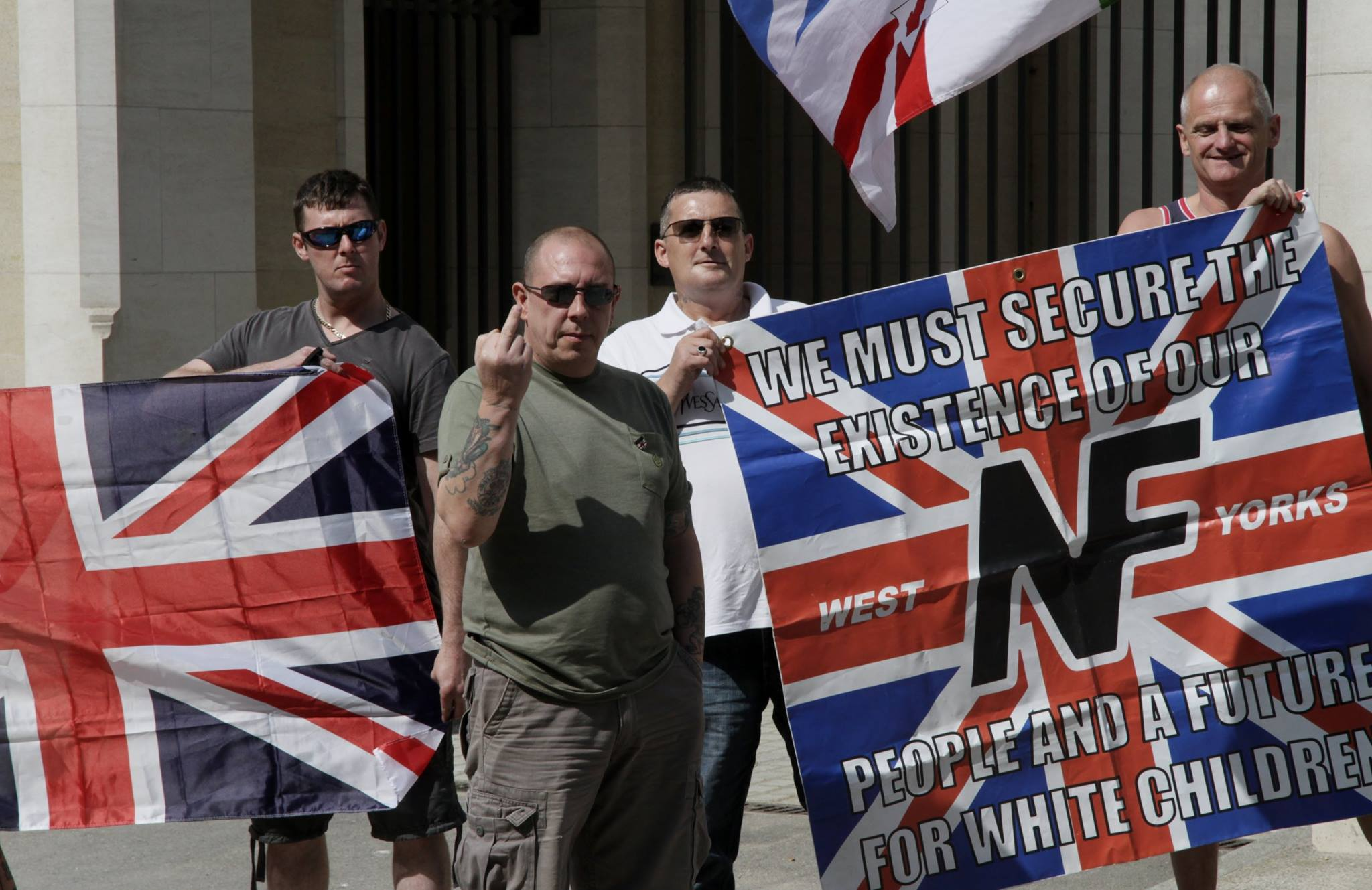 Galerry WHITE NATIONALISTSBATTLE REDS AT NEWCASTLE WHITE MAN'S MARCH